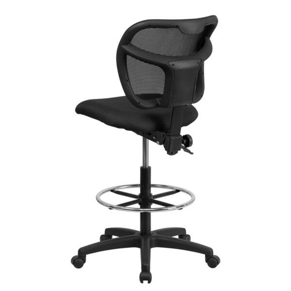 Contemporary Draft Stool Black Mesh Draft Chair