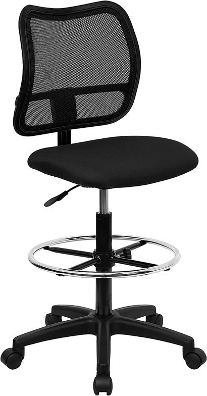 Wholesale Mid-Back Black Mesh Drafting Chair