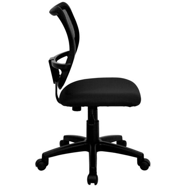 Lowest Price Mid-Back Black Mesh Swivel Task Office Chair