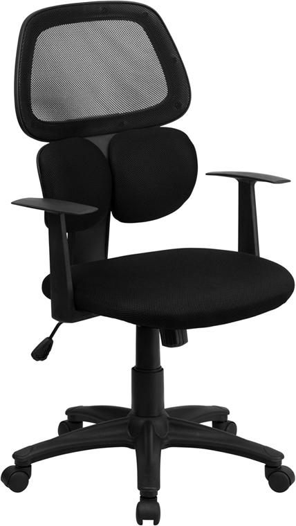 Black Mesh Swivel Task Office Chair