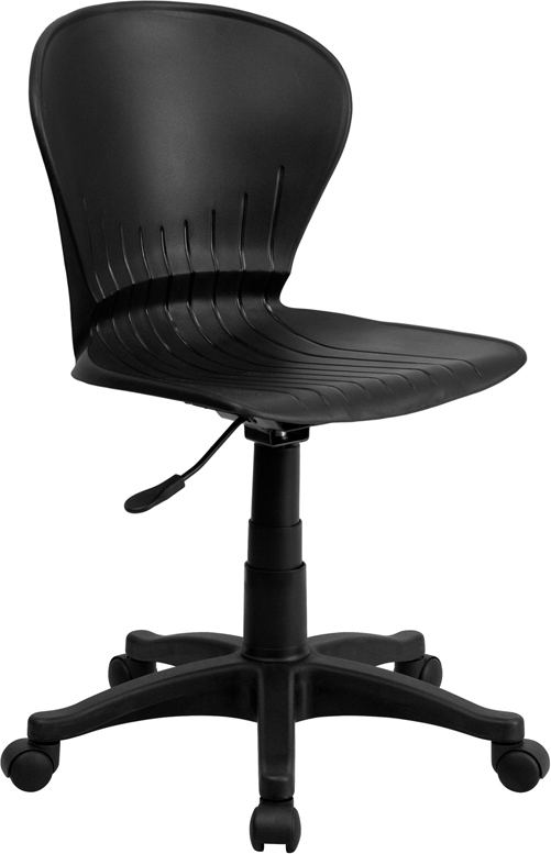 Wholesale Mid-Back Black Plastic Swivel Task Office Chair