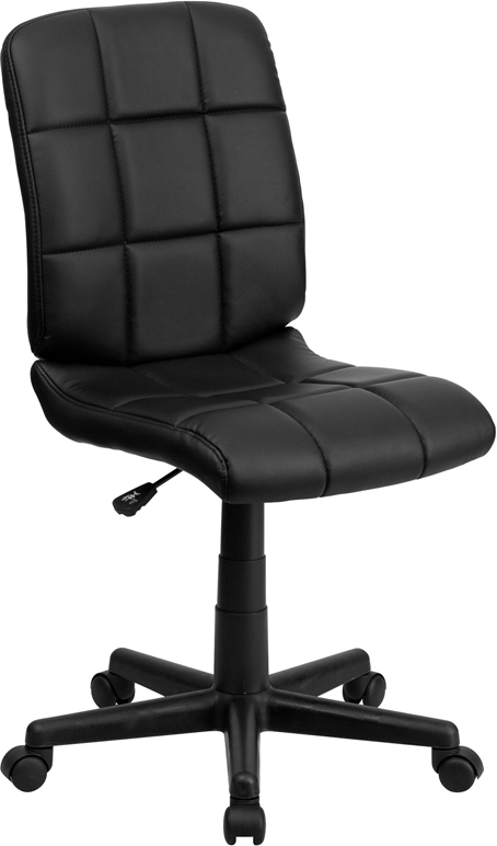 Wholesale Mid-Back Black Quilted Vinyl Swivel Task Office Chair