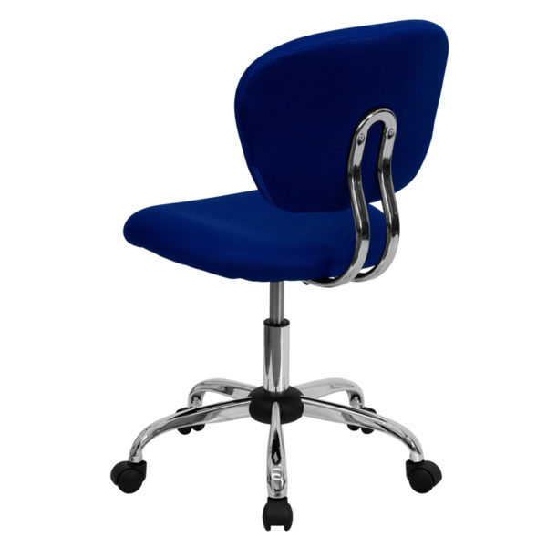 Contemporary Task Office Chair Blue Mid-Back Task Chair