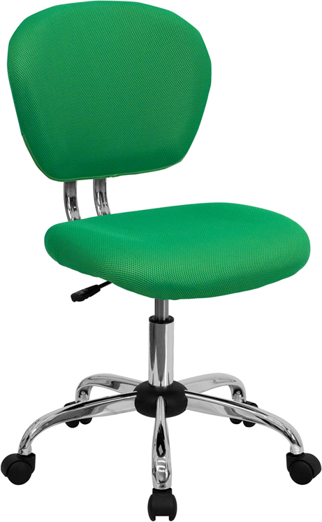 Wholesale Mid-Back Bright Green Mesh Padded Swivel Task Office Chair with Chrome Base