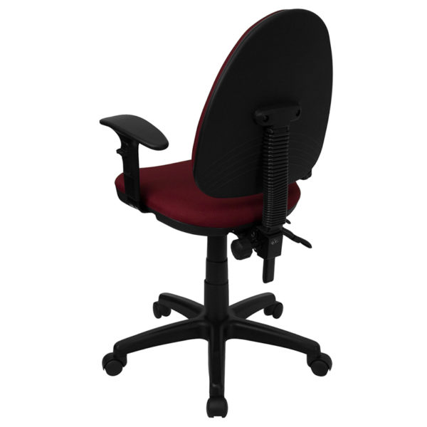 Contemporary Task Office Chair Burgundy Mid-Back Task Chair