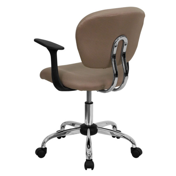 Contemporary Task Office Chair Coffee Mid-Back Task Chair