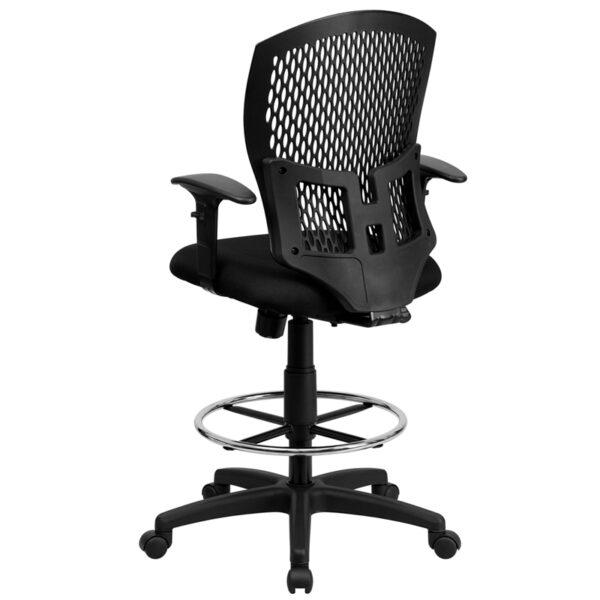 Contemporary Draft Stool Black Designer Draft Chair