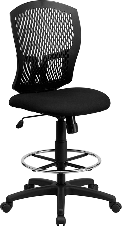 Wholesale Mid-Back Designer Back Drafting Chair with Fabric Seat