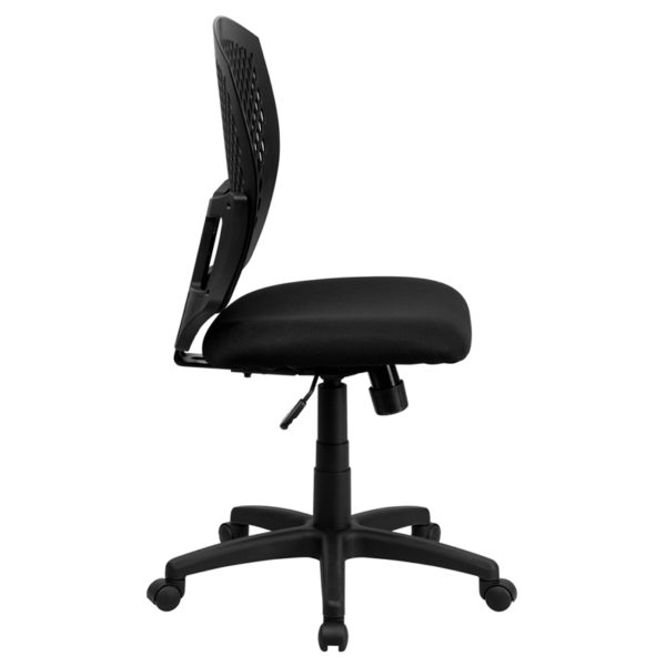 Lowest Price Mid-Back Designer Back Swivel Task Office Chair with Fabric Seat