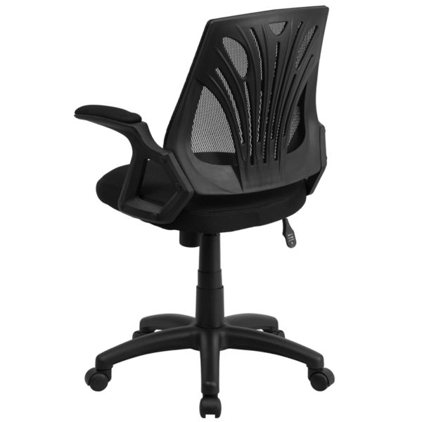 Contemporary Task Office Chair Black Mid-Back Task Mesh Chair