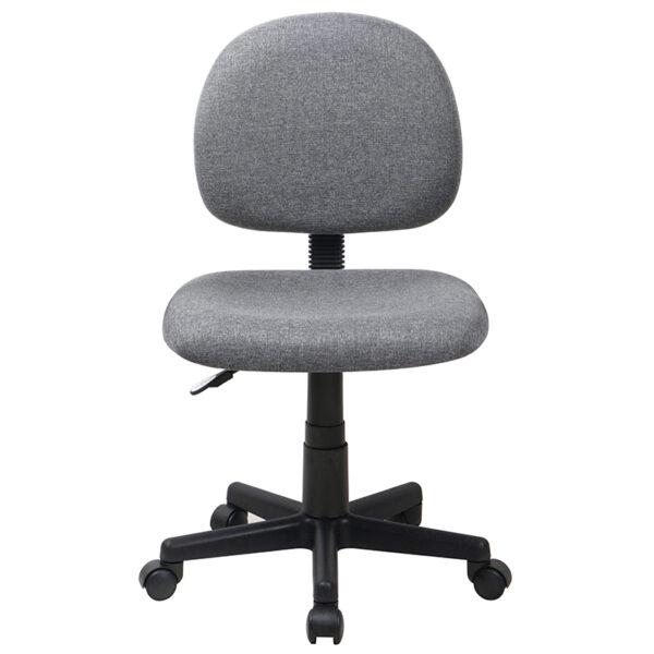 Tremendous Mid Back Gray Fabric Swivel Task Office Chair Beatyapartments Chair Design Images Beatyapartmentscom