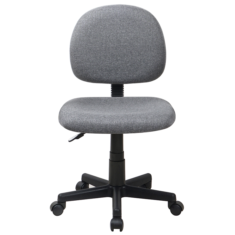 Gray Fabric Swivel Task Office Chair