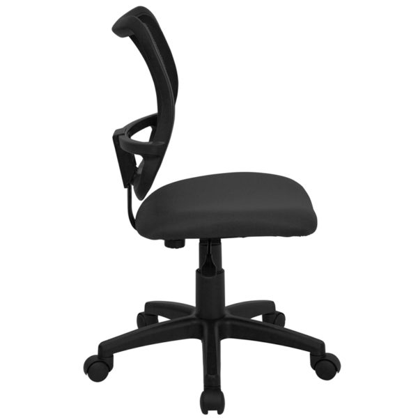 Lowest Price Mid-Back Gray Mesh Swivel Task Office Chair
