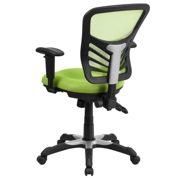 Contemporary Office Chair Green Mid-Back Mesh Chair