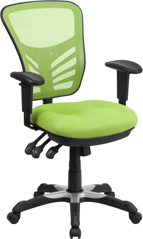 Wholesale Mid-Back Green Mesh Multifunction Executive Swivel Ergonomic Office Chair with Adjustable Arms