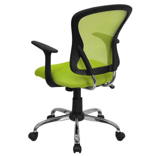 Contemporary Task Office Chair Green Mid-Back Task Chair