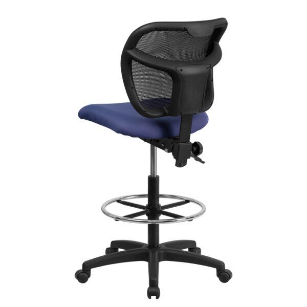 Contemporary Draft Stool Navy Mesh Draft Chair
