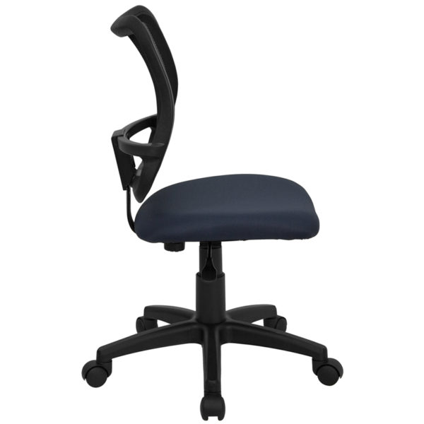 Lowest Price Mid-Back Navy Blue Mesh Swivel Task Office Chair