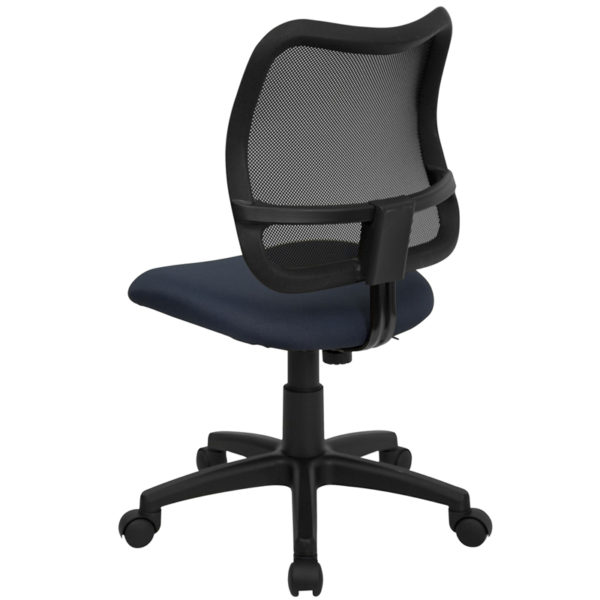 Contemporary Task Office Chair Navy Mid-Back Task Chair