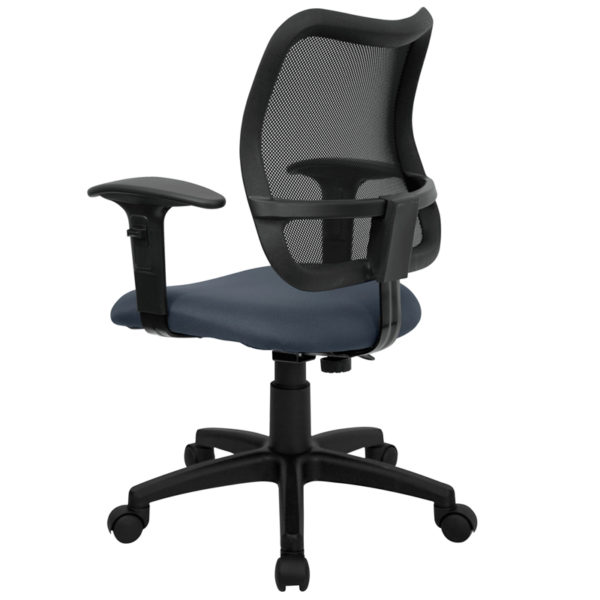 Contemporary Task Office Chair Navy Blue Mid-Back Task Chair