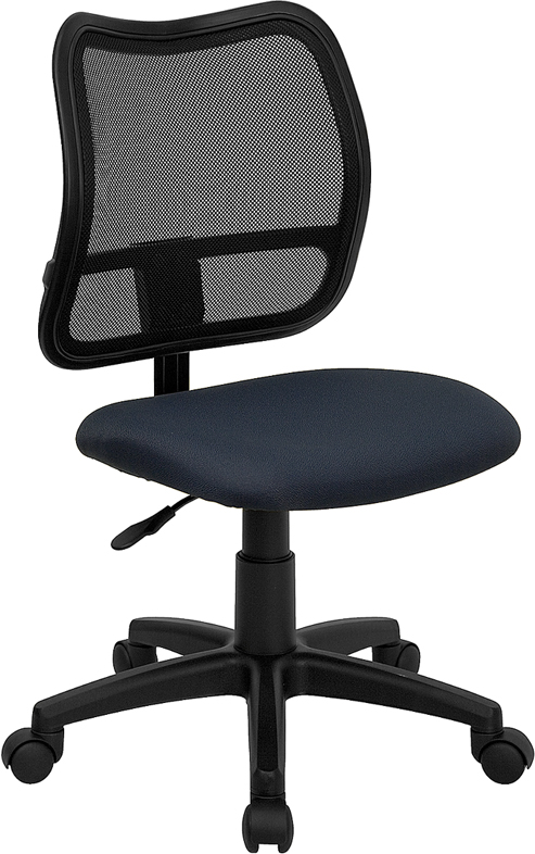 Wholesale Mid-Back Navy Blue Mesh Swivel Task Office Chair
