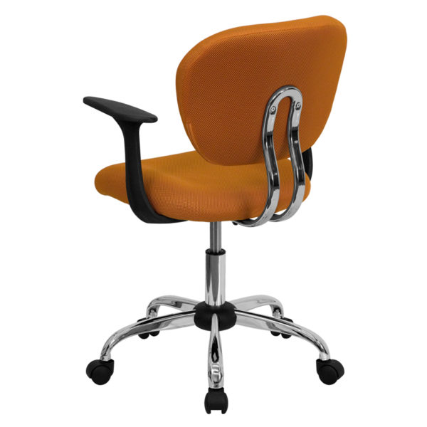 Contemporary Task Office Chair Orange Mid-Back Task Chair
