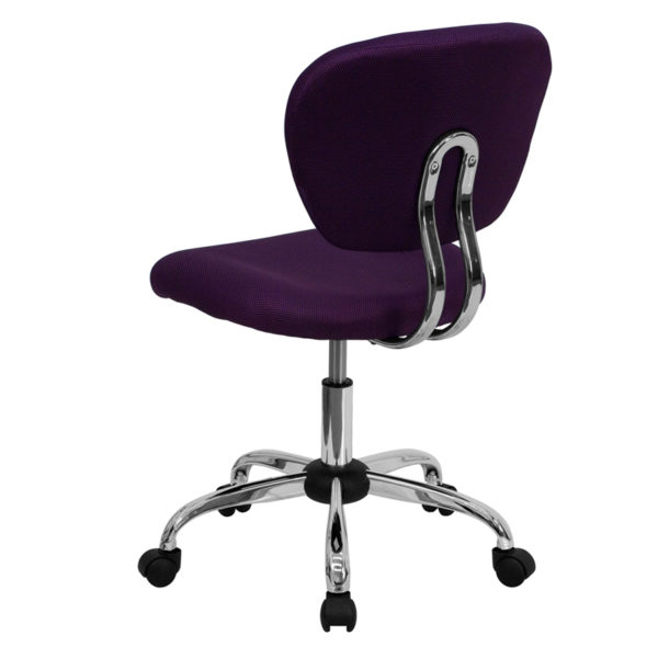Contemporary Task Office Chair Purple Mid-Back Task Chair
