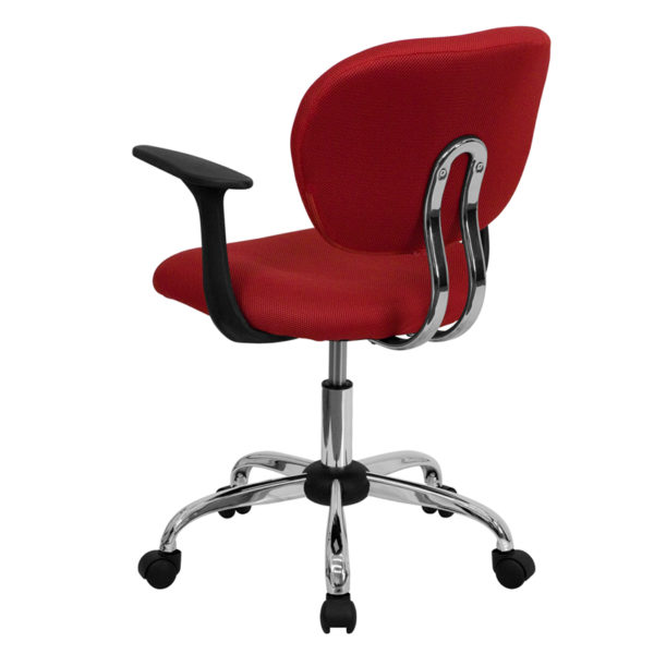 Contemporary Task Office Chair Red Mid-Back Task Chair