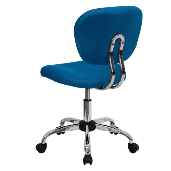 Contemporary Task Office Chair Turquoise Mid-Back Task Chair