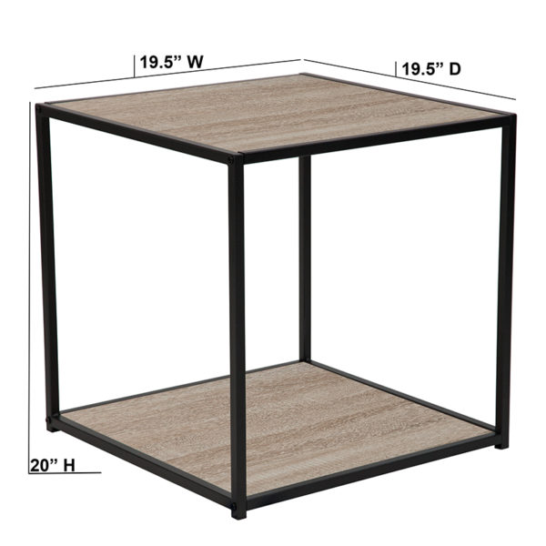 Contemporary Style Sonoma Oak End Table