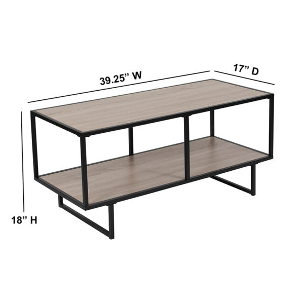 Contemporary Style Sonoma Oak TV Stand