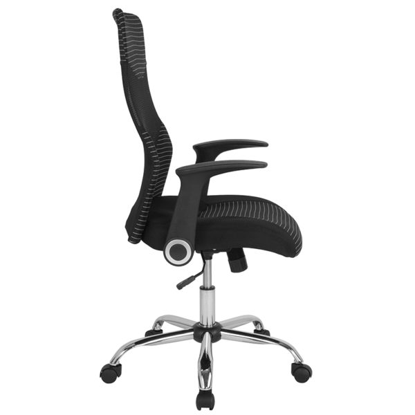 Lowest Price Milford High Back Ergonomic Office Chair with Contemporary Mesh Design in Black and White