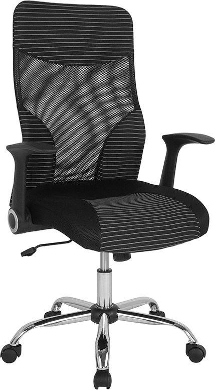 Wholesale Milford High Back Ergonomic Office Chair with Contemporary Mesh Design in Black and White