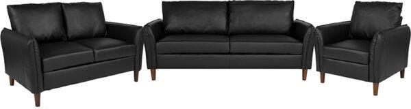 Wholesale Milton Park Upholstered Plush Pillow Back Chair