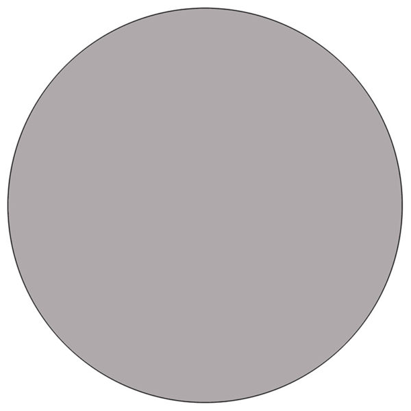 Lowest Price Mobile 42'' Round Grey Thermal Laminate Activity Table - Height Adjustable Short Legs
