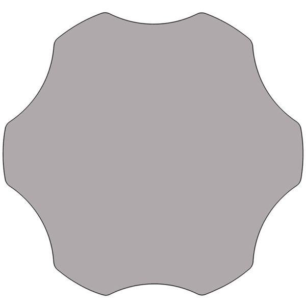 Lowest Price Mobile 60'' Flower Grey Thermal Laminate Activity Table - Height Adjustable Short Legs