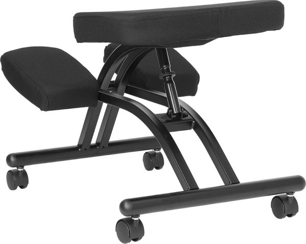Contemporary Style Black Mobile Kneeler Chair