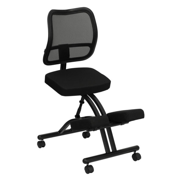 Wholesale Mobile Ergonomic Kneeling Office Chair with Black Mesh Back