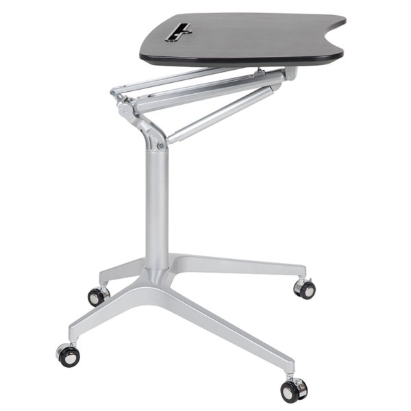 "Stand-Up Black Computer Ergonomic Desk with 28.25""W Top (Adjustable Range 29"" - 41"")"