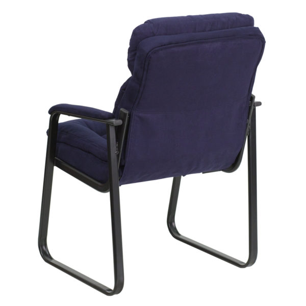 Guest Office Chair Navy Microfiber Side Chair