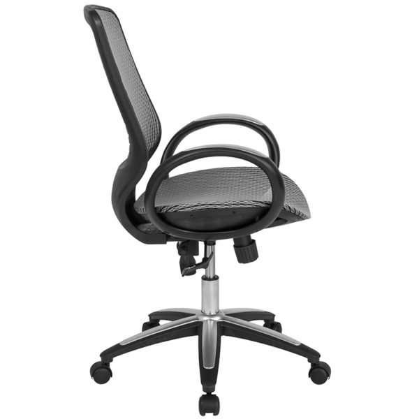 Lowest Price Newton Mid-Back Ergonomic Office Chair with Contemporary Mesh Design in Gray