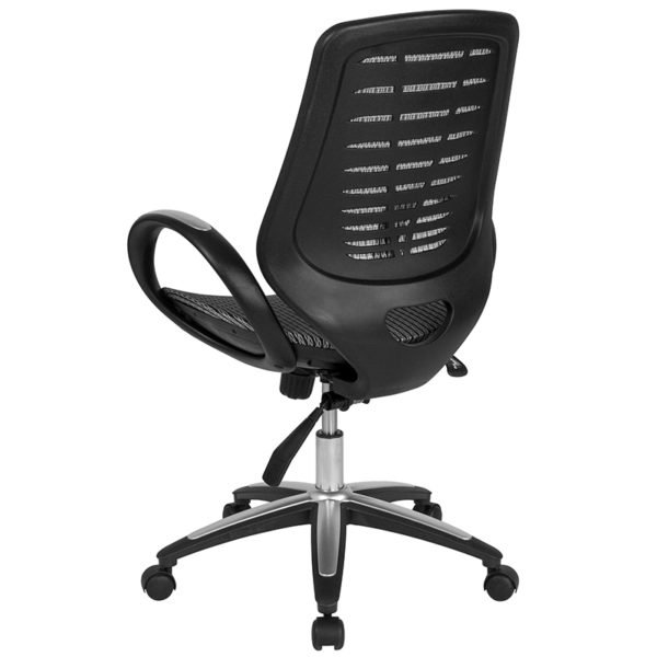 Contemporary Office Chair Mid-Back Gray Mesh Chair