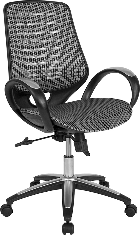 Wholesale Newton Mid-Back Ergonomic Office Chair with Contemporary Mesh Design in Gray