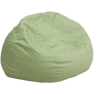 Wholesale Oversized Green Dot Bean Bag Chair