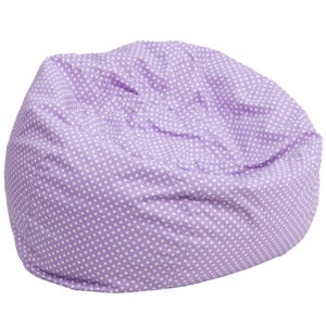 Wholesale Oversized Lavender Dot Bean Bag Chair