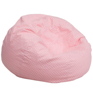 Wholesale Oversized Light Pink Dot Bean Bag Chair