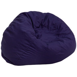 Wholesale Oversized Solid Navy Blue Bean Bag Chair