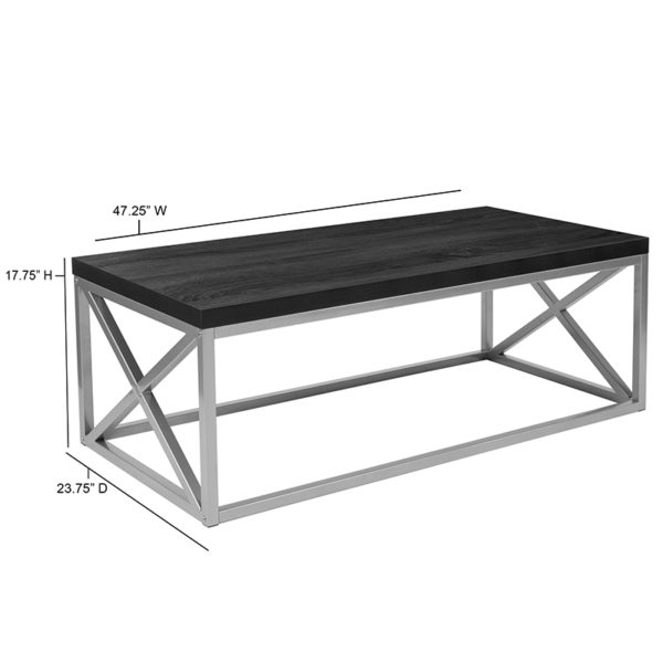 Contemporary Style Black Coffee Table