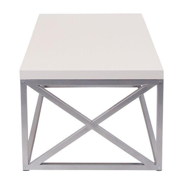 Contemporary Style Cream Coffee Table