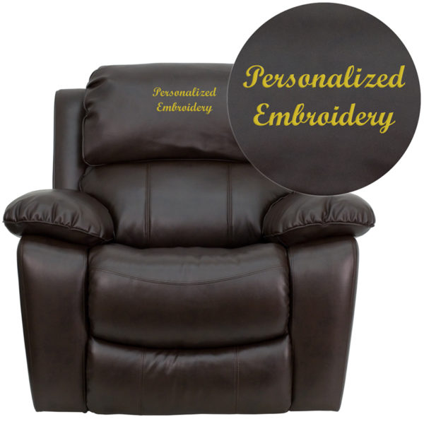 Wholesale Personalized Brown Leather Rocker Recliner